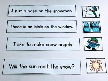 Winter Sentence Strips