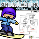 Winter Sentence Structure - Naming and Telling Parts of a