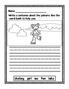Winter Sentence Writing