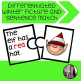 Winter Sentence and Picture Puzzle Match