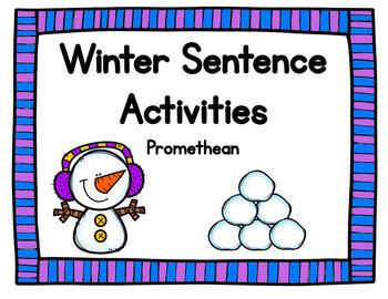 Winter Sentences Activities Promethean