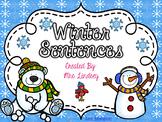 Winter Sentences  {Pocket Chart Stations}