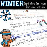 Winter Sentences {Read-Trace-Write-Glue}