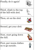 Winter Sequence Cut & Paste; 6 steps with key words; Modified for Special Ed