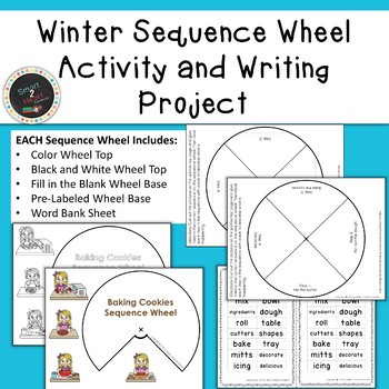 Winter Sequence Wheel Activity and Writing Project (Center)