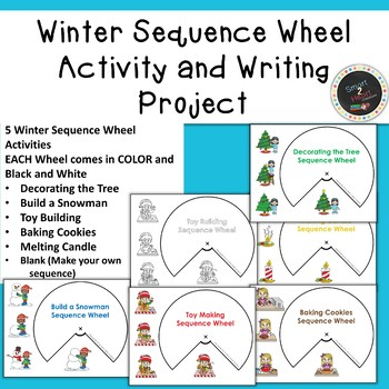 Winter Sequence Wheel Activity and Differentiated Writing Project
