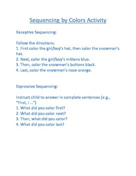 Winter Sequencing By Color Activity