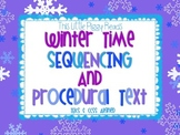 Winter Sequencing and Procedural Text Literacy Pack - TEKS