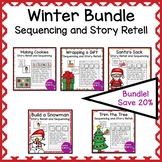 Winter Sequencing and Story Retell Writing Bundle