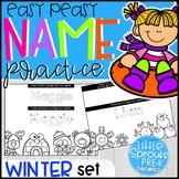 Winter Set - Easy Peasy Name Practice - Activities for Pre
