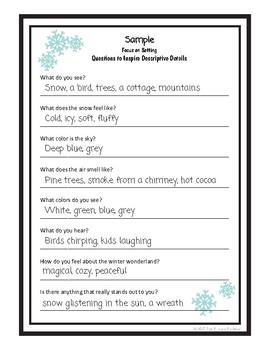Descriptive Writing Lesson FREEBIE - Winter Wonderland