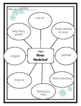 Descriptive Writing Lesson Freebie  Winter Wonderland By The  Descriptive Writing Lesson Freebie  Winter Wonderland