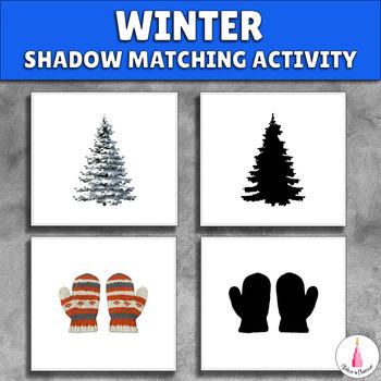 Winter Shadow Matching Activity