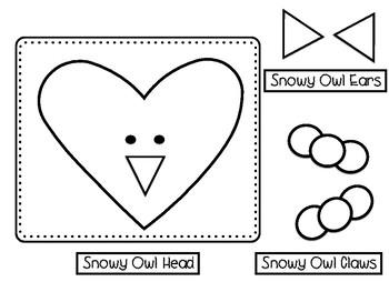 Winter Animal Shape Buddies- Craftivity