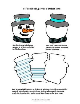 Winter Shape Books for Creative Writing Fun
