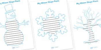 Winter Shape Poetry