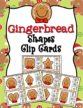 Winter Shapes Clip Cards Bundle