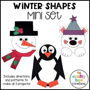 Winter Shapes Cut and Paste Mini Set