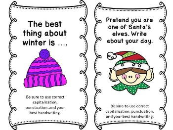 Winter Share Writing prompts