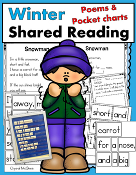 Winter Shared Reading Poems and Pocket Charts