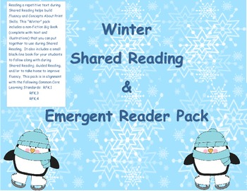 Winter Shared Reading and Emergent Reader Pack