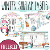 Winter Shiplap Labels for the Classroom | Editable