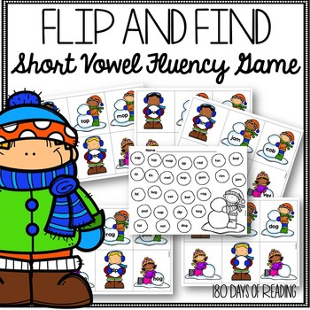 Winter Phonics Game for CVC Fluency