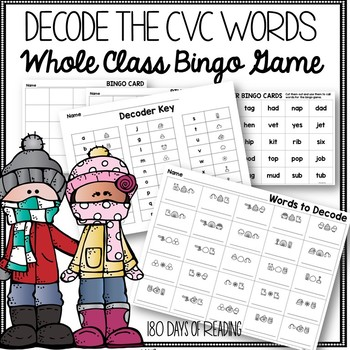 CVC Word Winter Activity to Practice Short Vowels