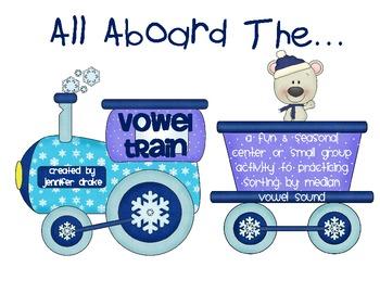 Winter Short Vowel Sort Center/Game ~All Aboard The Vowel Train~