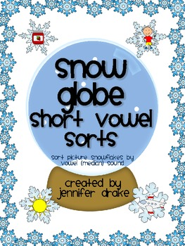 Winter Short Vowel Sorting Center/Game!