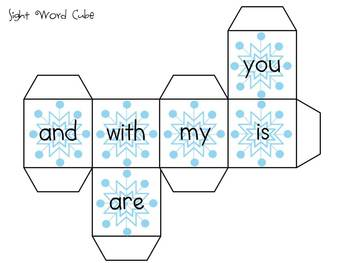 Winter Sight Word Activities - aligned to the CCSS
