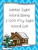 Winter Sight Word Bang