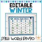 Winter Sight Word Bingo