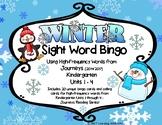 Winter Sight Word Bingo - Journeys K Unit 1 - 4