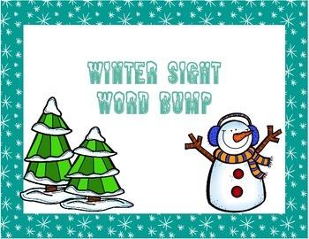 Winter Sight Word Bump