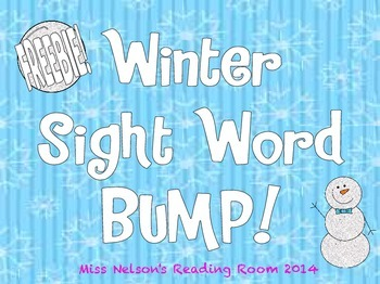 Winter Sight Word Bump FREEBIE
