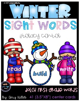 Winter Sight Word Center