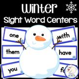 Winter Sight Word Centers
