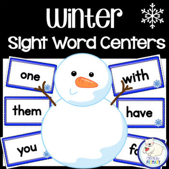 Winter Sight Word Centers