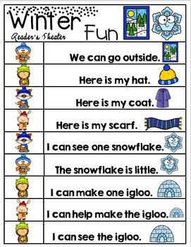 Winter Sight Word Centers Bundle