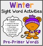 Winter Sight Word Centers Bundle