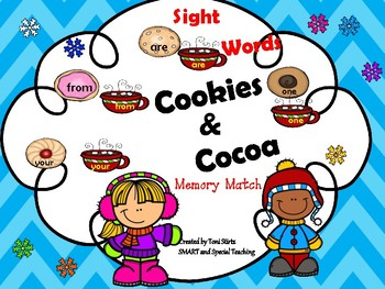 Winter Sight Word Cookie and Cocoa Match