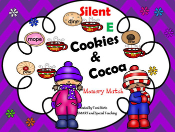 Winter Silent E Word Cookie and Cocoa Match