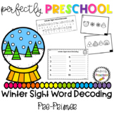 Winter Sight Word Decoding (Pre-Primer)