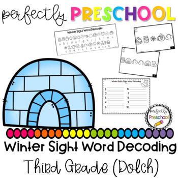 Winter Sight Word Decoding (Third Grade Dolch)