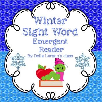 Winter Sight Word Emergent Reader