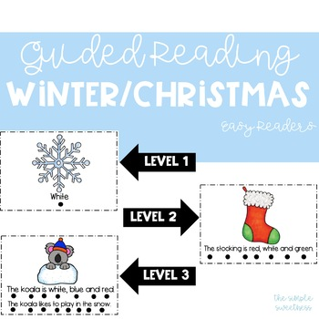 Winter/Christmas Guided Reading Easy Readers (For Primary Readers)