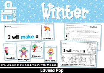 Winter Sight Word Fluency Flip Books