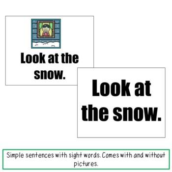 Sight Word Sentences Winter