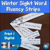 Winter Sight Word Fluency Strips